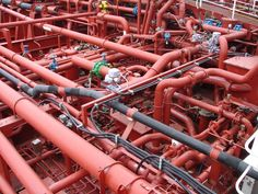 Fichier:Piping system on a chemical tanker. Bareboat Charter, Piping Design, Oil Pipe, Gas Turbine, Industrial Architecture, Industrial Design, Study Materials, Plant Design, Autocad