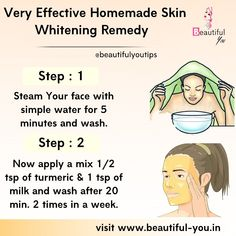 Clear Skin Face, Face Skin Care, Natural Skin Whitening, Healthy Skin Tips, Beauty Tips For Glowing Skin, Skin Care Routine Steps, Skin Care Remedies, Homemade Skin Care, Skin Treatments