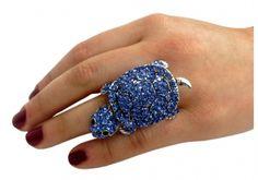 Schildkröten Ring Blau
