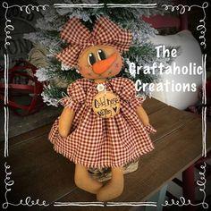 * primitive CHRISTMAS raggedy doll SNOWMAN girl snow COLD nose WARM heart  #NaivePrimitive Primitive Folk Art, Primitive Crafts, Primitive Christmas, Country Primitive, Nose Warmer, Snow Girl, Coffee Staining, Bear Doll, Art Dolls