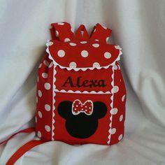 Minnie Mouse inspirada mochila personalizada;  Um grande presente para meninas pré-escolar e jardim de infância Backpack Backpack.  Um grande presente para as meninas