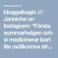 """bloggaibagis /// Janniche on Instagram: """"Första sommarhelgen och vi medicinerar bort lite ovälkomna streptokocker 😷 Min medicin förbjuder mig att ta ett glas vin samt att vistas i…"""" • Instagram"""