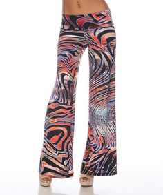 This Orange Zebra Palazzo Pants by White Mark is perfect! Black Palazzo Pants, Cheap Shopping, Pants For Women, Clothes For Women, Pajama Pants, My Style, Tees, Orange, How To Wear