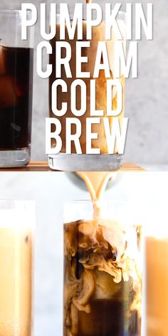 The new Starbucks Pumpkin Cream Cold Brew is better than the Pumpkin Spice Latte, and you can make it at home! You won't believe how easy this DIY Pumpkin Cream Cold Brew Recipe is to make. It only takes 6 ingredients and 5 minutes! Starbucks Pumpkin Spice Latte, Pumpkin Spiced Latte Recipe, Pumpkin Spice Coffee, Spiced Coffee, Diy Pumpkin, Cold Brew Coffee Recipe Starbucks, Cold Starbucks Drinks, Diy Cold Brew Coffee, Coffee Drink Recipes