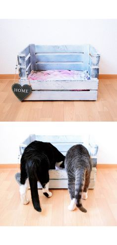 Do you want to give your cats a great place? This DIY cat bed … - Stofftiere Wall Stickers Animals, Dinosaur Wall Stickers, Diy Cat Bed, Look Boho, Nursery Wall Decals, Small Room Bedroom, Animal Nursery, Baby Room Decor, My Animal