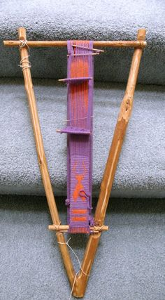 Backstrap Weaving -Someone to Watch Over Me Weaving Loom Diy, Finger Weaving, Inkle Weaving, Weaving Tools, Inkle Loom, Card Weaving, Tablet Weaving, Weaving Projects, Weaving Textiles