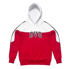 OVO COLOURBLOCK HOODED SWEATSHIRT October's Very Own ($168) ❤ liked on Polyvore featuring tops, hoodies, white top e white hoodies