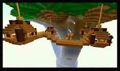 An AMAZNG Minecraft tree house...just fantastic!