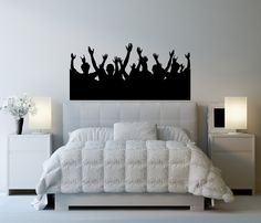 Crowd Concert Event Fight Audience - Vinyl Decal Sticker Wall Home Office Boy's Bedroom Decor
