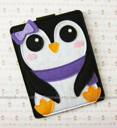 "Nook sleeve, Nook cover, Nook case, Nook Simple Touch case,  Nook HD+ case, Nook color cover, Nook Glowlight cover, ""Penguin kindle case"""