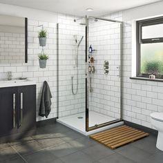 Orchard Sliding Shower Enclosure With Stone Shower Tray 1200 X 900 Mixer Shower, Shower Set, Shower Ideas, Shower Trays, Bath Shower, Stone Shower, Glass Shower, Pivot Doors, Sliding Doors