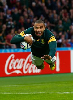 Brilliant Bryan Habana scores again for South Africa Rugby Sport, Rugby Men, Sport 2, Rugby League, Rugby Players, Rugby Wallpaper, Go Bokke, South Africa Rugby, World Rugby