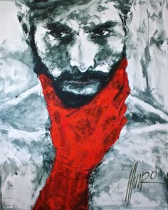 """""""their blood on your hands"""" 150 x 120 x cm Art by Munro One Punch, Men Of Courage, Game Of Death, South African Artists, Hand Art, Documentaries, Blood, Hands, Superhero"""