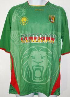CAMEROON SOCCER JERSEY T-SHIRT GREEN L FOOTBALL WORLD CUP 2014 FIFA  CAMISETA REMERA FÚTBOL 398a32ebf