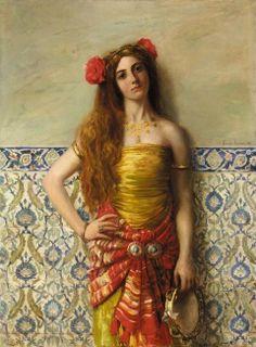 Harem Dancer (1913), Renée Latour #art #painting