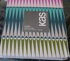 KAS AUSTRALIA INDIO 72 by 72 inches Fabric SHOWER CURTAIN BATH NEW