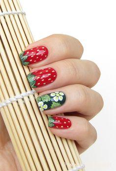 Strawberry nails design