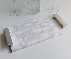 Como fazer um bandeja de mármore dupe