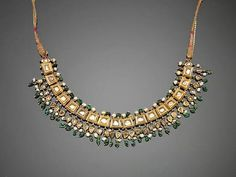 Diamond and gold necklace, Jaipur, India, 19th century.