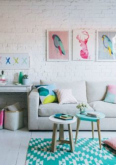 Pastels add a dash of brightness to your home.