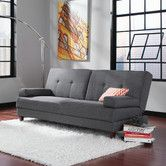 Sauder Premier Carver Convertible Sofa with Storage Same size as current sofa Dark Gray Sofa, Grey Sofa Bed, Futon Sofa Bed, Sofa Sleeper, Pink Sofa, Sectional Sofa, Dark Grey, Living Room Furniture, Modern Furniture