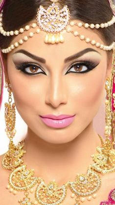 Inspirational makeup and hair ideas for belly dancer shoot.