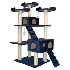 I pinned this Camoros Cat Tree in Blue from the Creature Comforts event at Joss and Main!
