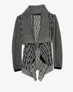 Yigal Azrouel Chunky Cable Knit Colorblock Throw
