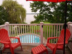 While at the Rothwell Stone Cottage Annex enjoy fishing on the Upper Rideau, wine from the balcony and full use of the property grounds. Westport Ontario, Outdoor Chairs, Outdoor Furniture, Outdoor Decor, Annex, Balcony, Fishing, Cottage, Stone