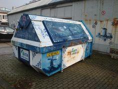 Decorated dumpster, Delft, Netherlands (side B)
