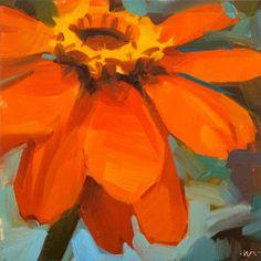Carol Marine's Painting a Day: Happy Orange