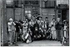 Magnum photographers during the annual meeting.Back row (standing): Paul Fusco, Raymond Depardon, Leonard Freed, Peter MarlowMiddle row (standing): Ian Berry, Steve McCurry, Abbas, Inge Morath, Patrick Zachmann, Sebastiao Salgado, David Hurn, Stuart Franklin, Philip Jones Griffiths, Constantine Manos, Chris Steele-PerkinsFront row (mixed): Burt Glinn (standing), Eve Arnold (squat), Jean Gaumy (standing), Rene Burri (squat in front of Jean), Josef Koudelka, Harry Gruyaert, Martine Franck…