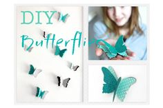 DIY dual layer paper butterflies