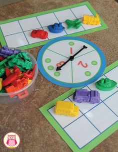 Ten frame number and counting game can be used with a variety of counters to work with a variety of themes (transportation counters, dinosaur counters, bear counters, farm animal counters....).  A great numeracy and counting activity for your math centers in preschool, pre-k, kindergarten, and early childhood education. https://www.teacherspayteachers.com/Product/Math-Activities-Five-and-Ten-Frame-Fun-2386304