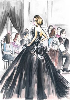 Dior Fashion Week Illustration