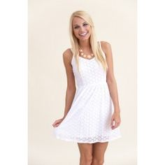 EVERLY: Forever and a Day Dress-White - $48.00
