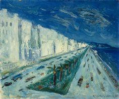 La promenade des Anglais à Nice - Jean Paul Lemieux , c. 1954–55