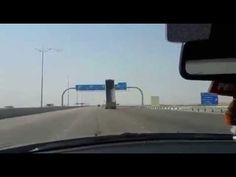 Truck With Raised Bed Crashes Into a Highway Sign