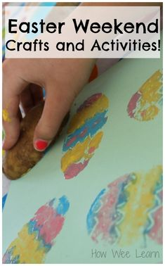 These are such cute Easter crafts for preschoolers! Love the art activities.