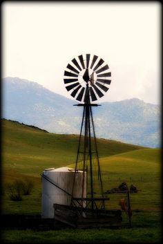Windmill, Frazier Valley, Tulare County, California.