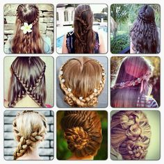 Awesome hair styles for girls with long hair.