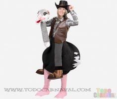 Este #gracioso avestruz con vaquero para adultos   esta disponible en tallas de hombre y mujer.Este #disfraz divertido para tu fiesta de carnaval sera el hazme reír de todo el mundo muy recomendado por el equipo de #TodoCarnaval
