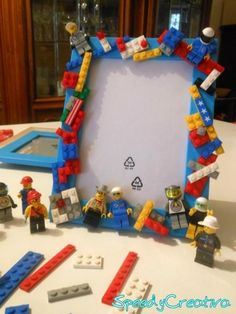 Lego Frame Hack Ideas for Kids. For best project or great LEGO build display. Diy And Crafts, Craft Projects, Crafts For Kids, Legos, Deco Lego, Lego Hacks, Lego Frame, Lego Bedroom, Lego Activities