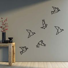 Origami for Everyone – From Beginner to Advanced – DIY Fan Tape Art, Tape Wall Art, Masking Tape Wall, Simple Wall Paintings, Wall Painting Decor, Wall Decor, Origami Ball, Origami Butterfly, Origami Birds