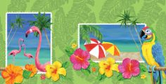 Island Vacation Plastic Table Covers