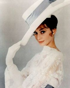 Audrey in White, with Attitude in color.