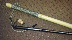 Bamboo wading Staff with a rod inside. Made of natural Moso Bamboo the bottom of the staff is weighted internally with lead and resin while the top is finished with a rope handle. Total length i…