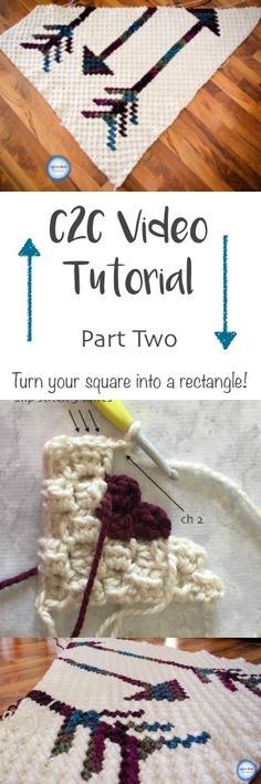 This video tutorial will teach you the C2C stitch using half double crochet.  Learn how to turn your square project into a rectangle. This video was recorded to support my Fallen Arrows Blanket CAL, a free crochet pattern available at Left in Knots