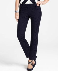 Petite Lace Slim Cropped Pants