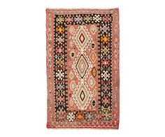 "VINTAGE ANATOLIAN KILIM IN ROSE   BLACK 4'2"" x 6'11"" from Floorplan Rugs"